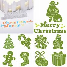 Merry Christmas Tree Santa Claus Cutting Dies Scarpbooking Embossing Mould Mold