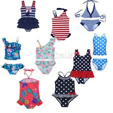 Girls Kids Bathing Suit One-pieces Swimsuit Swimwear Tankini Set Beachwear