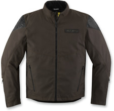 Mens Icon Brown Textile Squalborn Motorcycle Riding Street Racing Jacket