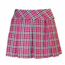 PLUS Sz Women's Sexy Schoolgirl Skirt Pink Plaid Pleated Naughty Britney Costume