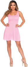 Womens Sassy Sexy Classy Basic Skater Dress Adult Pink Costume Halloween Party