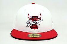 Chicago Bulls White Faux Pebble Scarlet Air Jordan New Era 59Fifty Fitted Hat