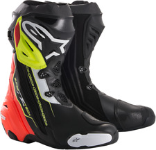 Mens Alpinestars Pair Supertech R Black Yellow Red Motorcycle Racing Boots