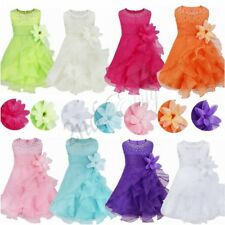 Flower Girl Princess Dress Kids Baby Party Wedding Bridesmaid Pageant Birthday