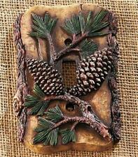 RUSTIC LODGE CABIN PINE CONE THEMED LIGHT SWITCH OUTLET PLATE COVER HARDWARE