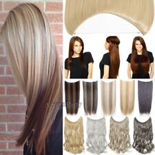 20inch Invisible Wire Secret One Piece Headband Real Natural Hair Extensions LC