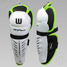 Winnwell AMP500 Junior Hockey Shin Guards / Pads (NEW)