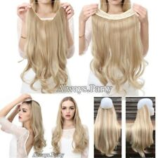 UK Lady Secret Headband Wire Hair Piece One Piece Hair Extensions Curly Straight