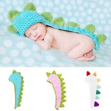 Dinosaur Baby Infant Handmade Crochet Beanie Hat Clothes Baby Photograph Props