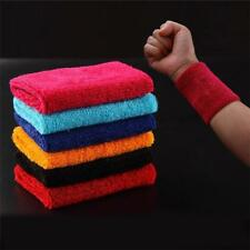 Terry Cloth Cotton Sweatband Sports Wrist Tennis Yoga Sweat WristBand Unisex