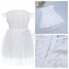 Infant Baby Girl Birthday Wedding Pageant Party Princess Tutu Flower Dress 3-24M