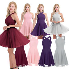 Women Chiffon Casual Dress Cocktail Ball Gown Evening Party Bridesmaid Dress New