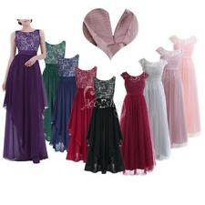 Women Ladies Long Evening Dress Wedding Bridesmaid Cocktail Party Prom Ball Gown