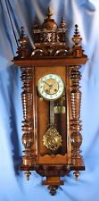 GERMAN LENZKIRCH LARGE ANTIQUE RA WALL CLOCK ORIGINAL RUNS GREAT BEAUTIFUL!