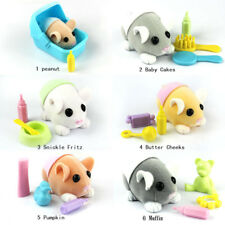 Gen 1st Zhu Zhu Pets Hamster Babies with Diaper & Accessories New in Loose
