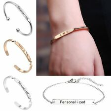 DIY Personalized Custom Engraved Name Stainless Steel Bracelet Bangle Jewelry