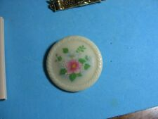 Vintage AVON 1984 SPRING BOUQUET Porcelain Disc Brooch Pin Floral Design