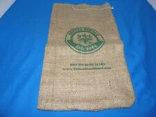 "COFFEE DIRECT BURLAP BEAN SACK BAG 16"" LONG"