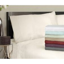 Grand Luxe Egyptian Cotton Sateen 500 Thread Solid Pillowcases (Set of 2)