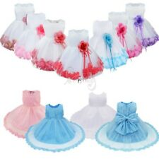 Infant Baby Birthday Wedding Pageant Party Princess Lace Tutu Flower Girl Dress