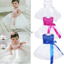 Flower Girl Princess Baby Baptism Christening Party Gown Wedding Beading Dresses