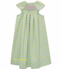 VIVE LA FETE smocked bishop dress 12M 18M 2T 3T 4T 5 6 NWT long aqua beach white