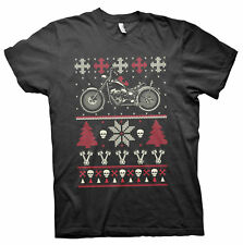 GearHead Biker Christmas - MOTORCYCLE - Sweater Style T-SHIRT