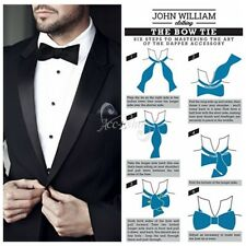 Men's Adjustable Wedding Tuxedo Business Silk Bowtie Self-tie Bow Tie Necktie