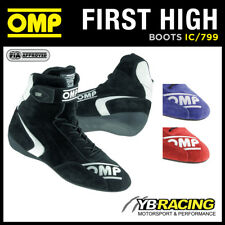 IC/799 OMP FIRST HIGH BOOTS NEW MODERN MID-CUT DESIGN FOR MOTORSPORT USE OMP FIA