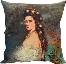 Sissi II French Courtesan Tapestry Cushion Pillow Cover - 18 x 18 - NEW