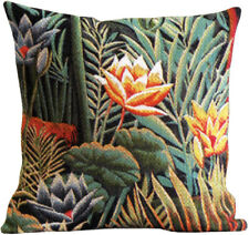 Douanier Tropical Floral French Tapestry Cushion Pillow Cover - 18 x 18 - NEW