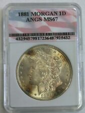 1881 MORGAN SILVER DOLLAR ANGS GRADED CERTIFIED HOLDER BETTER DATES