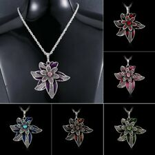 Fashion Crystal Rhinestone Flower Charm Pendant Necklace Women Jewelry Gift New