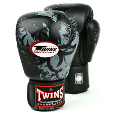 Twins Special Black Tribal Dragon Boxing Gloves Training Sparring FBGV-36