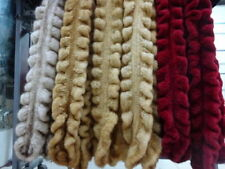 100% Real Genuine Knitted Mink Fur Scarf Shawl Wrap Vintage 5 Color -Hand made