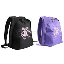 Kid Girls Ballet Dance Gym Backpack School Travel Embroidered Shoulder Bags