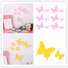 Art Design Decal Wall Stickers 3D Butterfly Wall Stickers Room Decor Yellow Pink