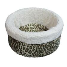 "Pets 4 All Pet Cat Dog Nest Circular Bed - Animal Print  Small 18"" - Made in USA"