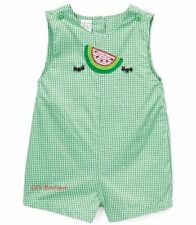 Boys ZU Petit Ami boutique romper 3M 6M NWT green watermelon ants sunsuit 0-3-6