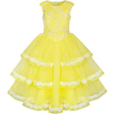 Sunny Fashion Girls Dress Ball Gown Princess Belly Beauty And Beast Size 6-12