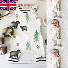 Infant Boys Toddler Animal Printed Long Romper Jumpsuit Bodysuit Playsuit Outfit