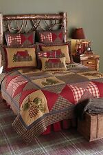 Beautiful Lodge Style Patchwork Cabin Bedding Set by Park Designs, Pick