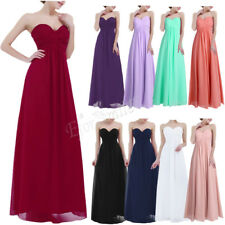 Women lady Bridesmaid Dress Long Cocktail Evening Wedding Party Gown Maxi Dress