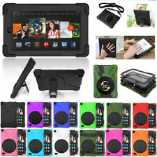 "For Amazon Kindle Fire 7"" HD 8 2017 Tablet 360 Rotating Case Cover Skin Stand"