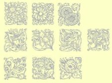 Floral Blocks Redwork &Trapunto Machine Embroidery Designs-By Anemone Embroidery