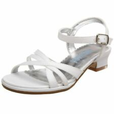 KENNETH COLE Bead BW the Lines Girls Sz 13.5 M (Kids) White Sandals, NEW,  $52