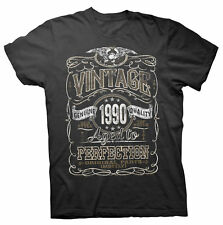 Vintage Aged To Perfection 1990 - Distressed Print - 27th Birthday Gift T-shirt