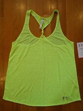 NWT UNDER ARMOUR RACERBACK SEMI-FITTED TANK TOP SHIRT WOMENS LARGE YELLOW