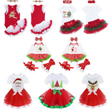 Newborn Girls Baby 1st Christmas Dress Outfits Kids Xmas Party Dress Up Clothes