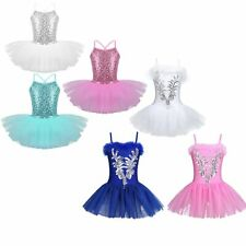 Girl Ballet Dress Leotard Tutu Skirt Dance Ballerina Pettiskirt Swan Costume
